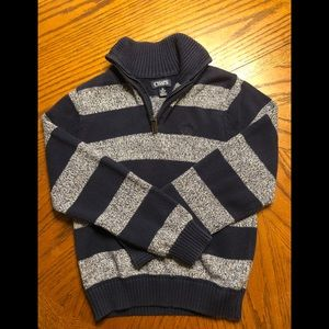 Boys navy chaps quarter zip sweater. 10/12